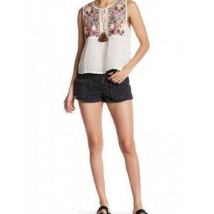 Free People Womens Cora Button Front Shorts
